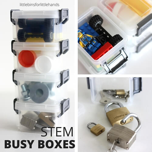 STEM Busy Boxes Boys Activities