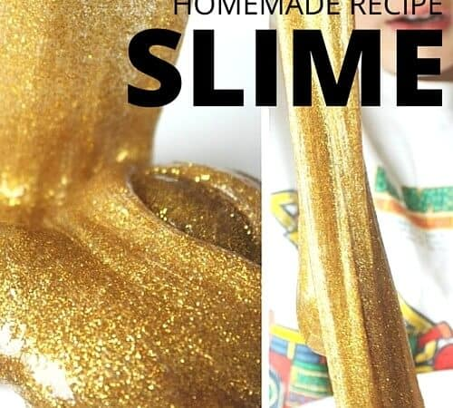 Amazing Gold Slime Recipe for Glittering Sensory and Science