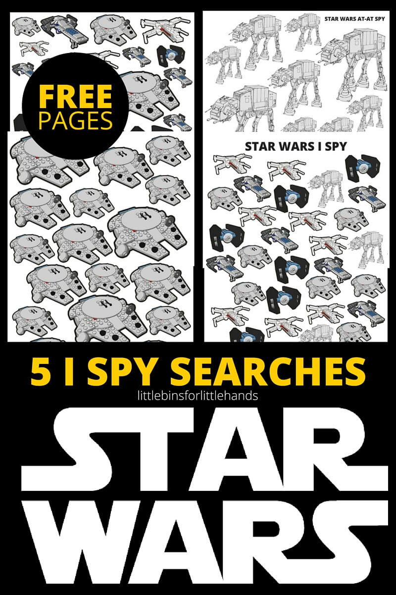 photo about Printable Star Wars Images referred to as STAR WARS I SPY Pursuits Totally free Printable Web pages
