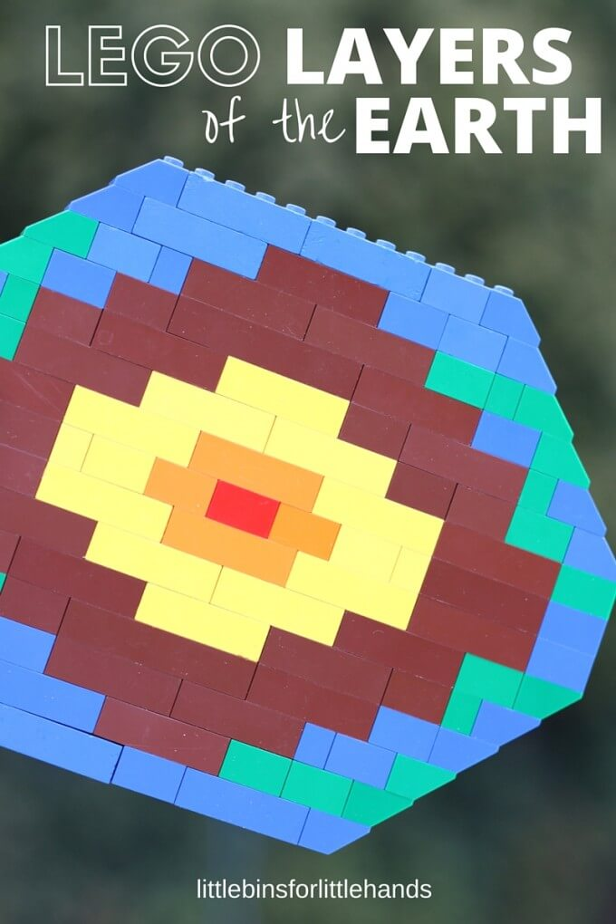 LEGO layers of the earth activity for earth science lesson on the crust
