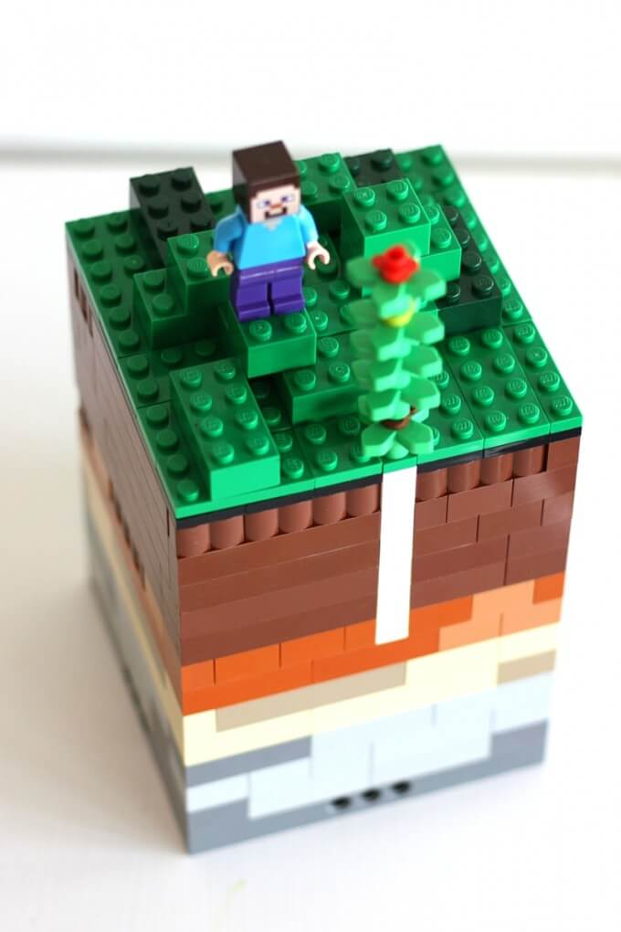 LEGO soil layers with minecraft activity
