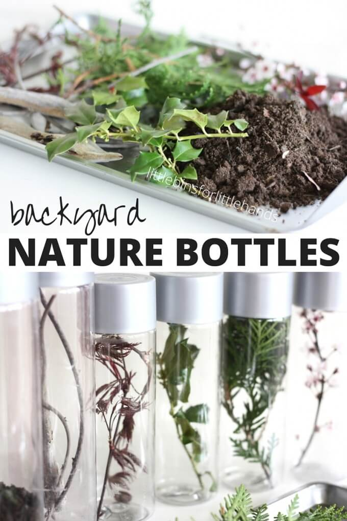 Backyard Nature Discovery Bottles Spring Activity For Kids
