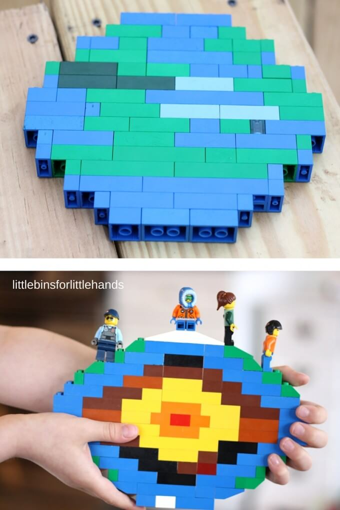 LEGO layers of earth activity and hands on science idea