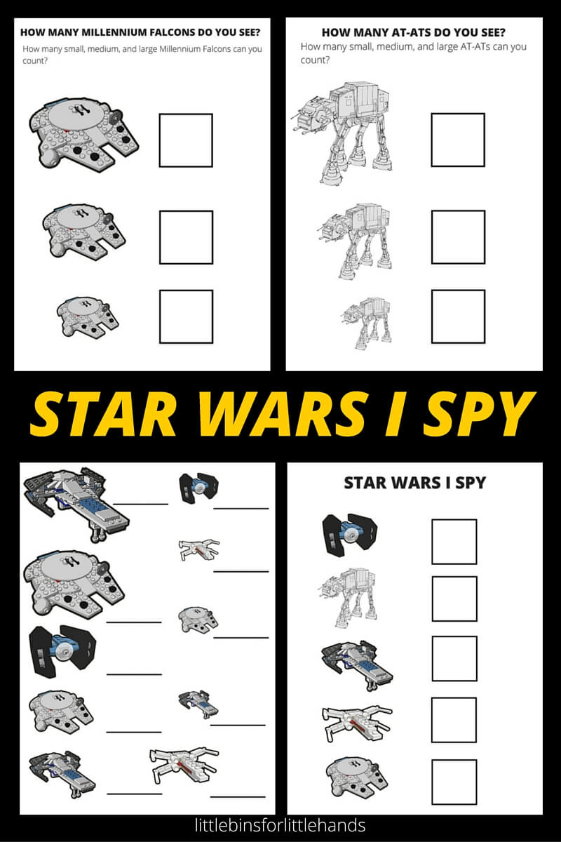 picture about I Spy Pages Printable identified as STAR WARS I SPY Routines No cost Printable Webpages