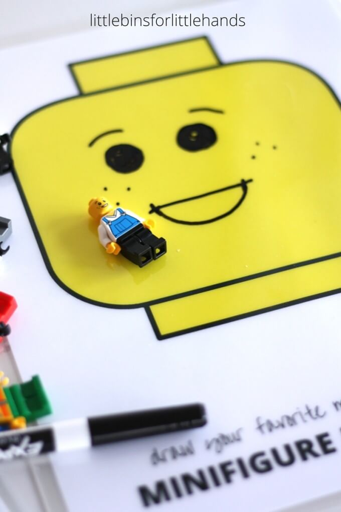 LEGO Minifigure Drawing faces Activity for kids