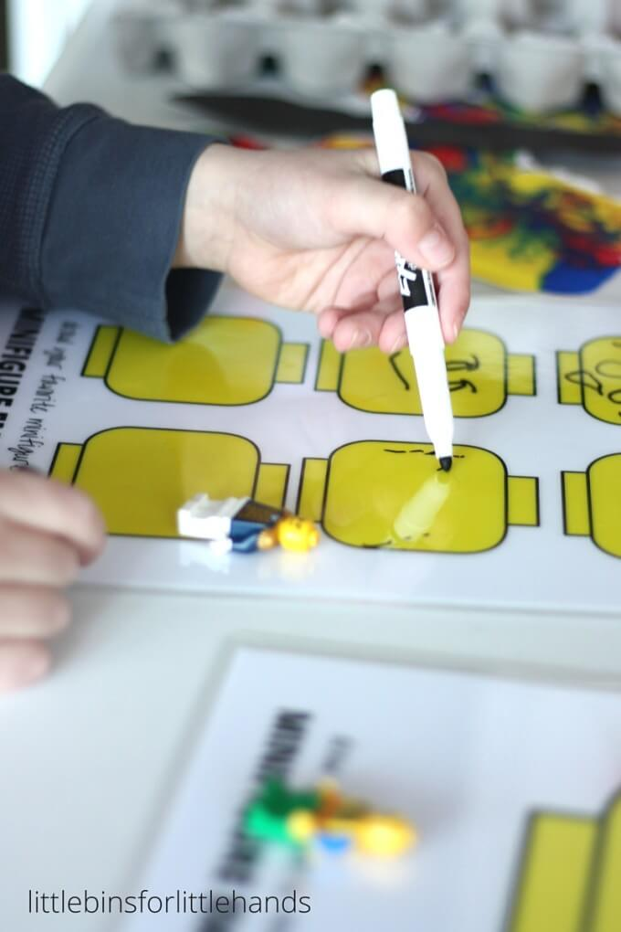 Lego Minifigure Drawing Emotions Activity For Kids