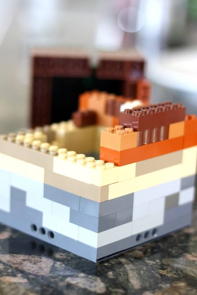 Building LEGO soil layers science activity