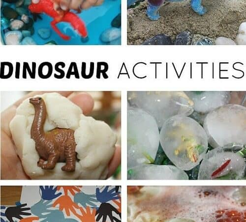 Preschool Dinosaur Activities & Sensory Play