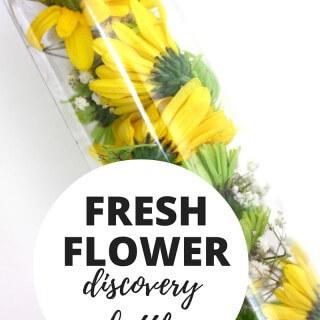 Flower Discovery Bottle Spring Fine Motor Activity