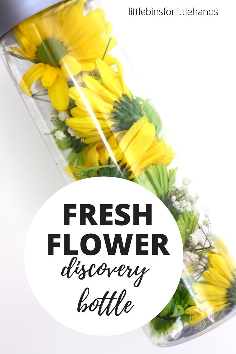 Flower Discovery Bottle Spring Fine Motor Activity For Kids