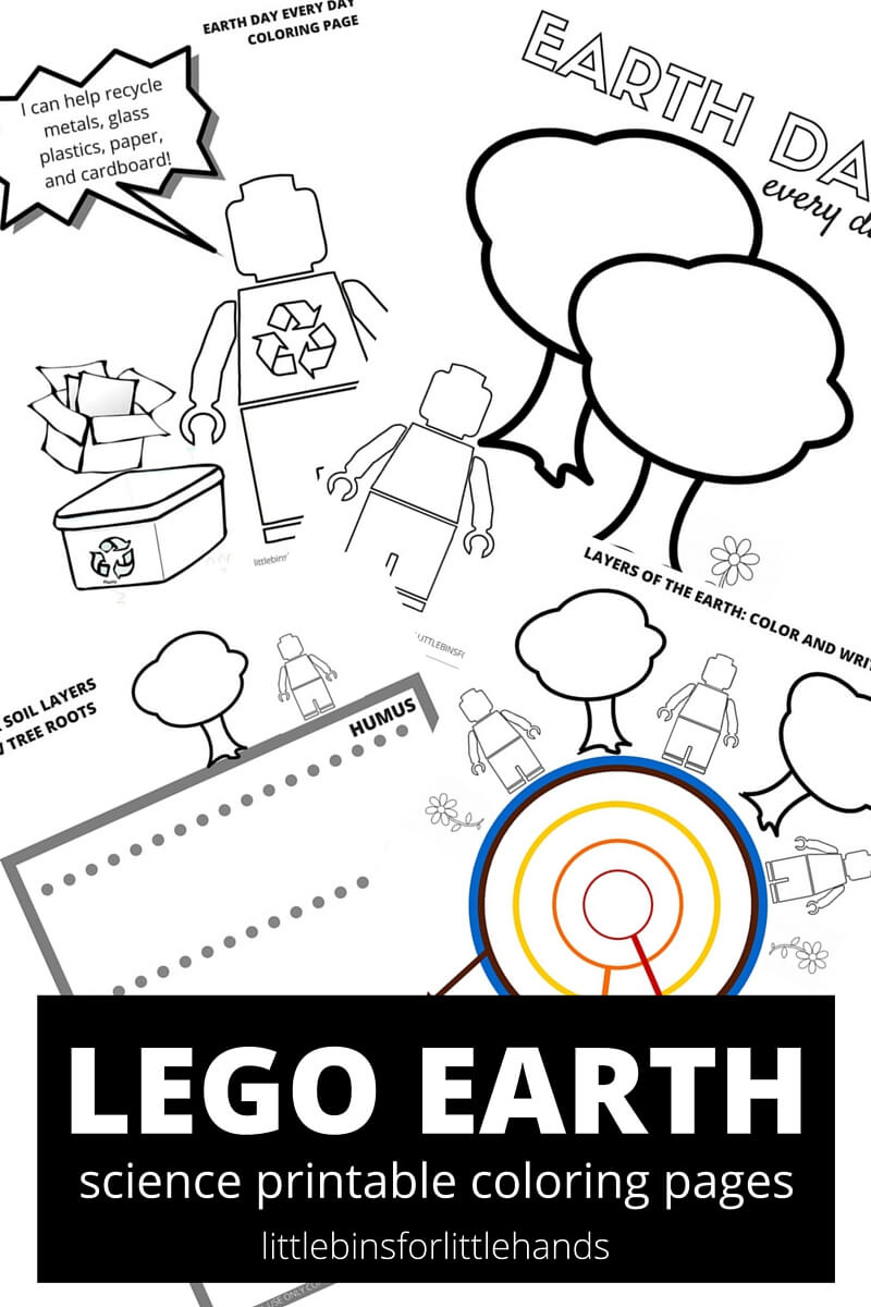 Lego earth coloring pages for kids