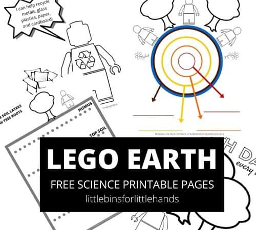 LEGO Earth Science Coloring Pages