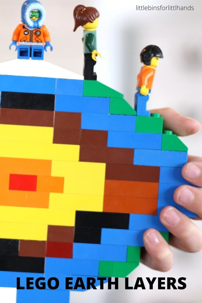 LEGO layers of earth activity for earth science STEM