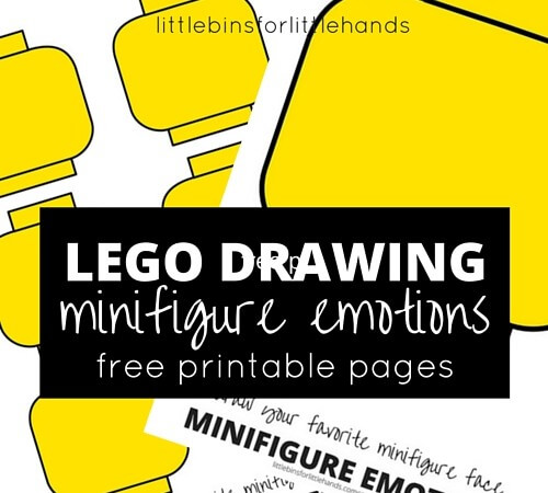 LEGO Minifigure Drawing Emotions Activity