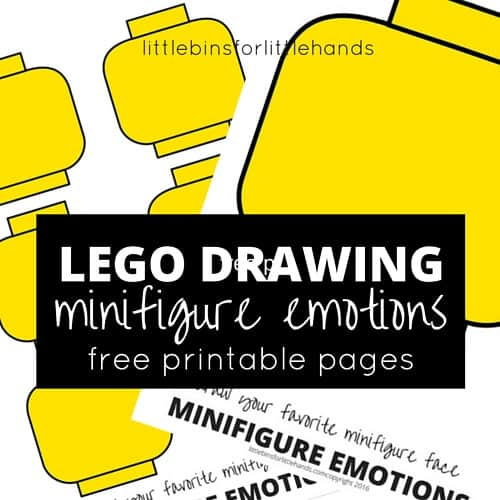 photograph about Lego Faces Printable called LEGO Minifigure Drawing Inner thoughts Game for Little ones