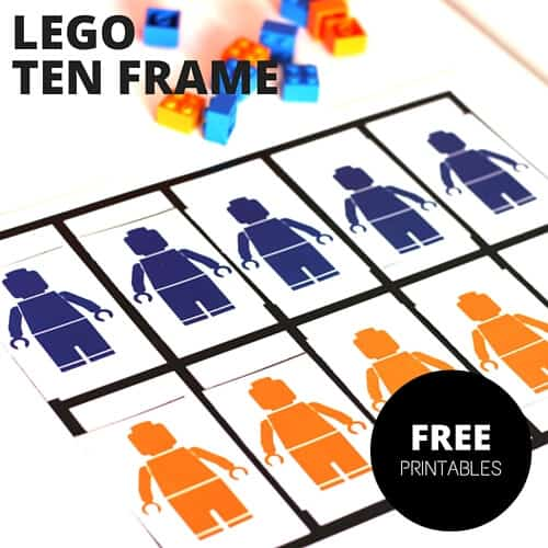 LEGO ten frame free printable pages-2