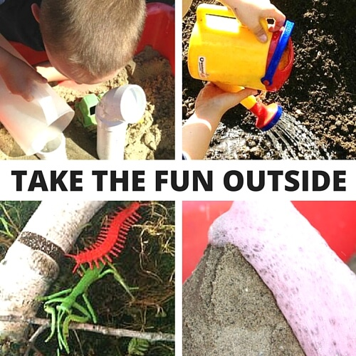 Outside Play for Recycle Activities
