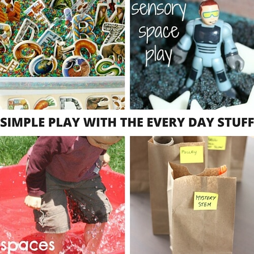 Simple play activities recycle activities for kids