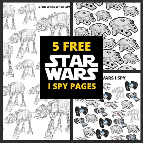 Star Wars I Spy free printable puzzles searches