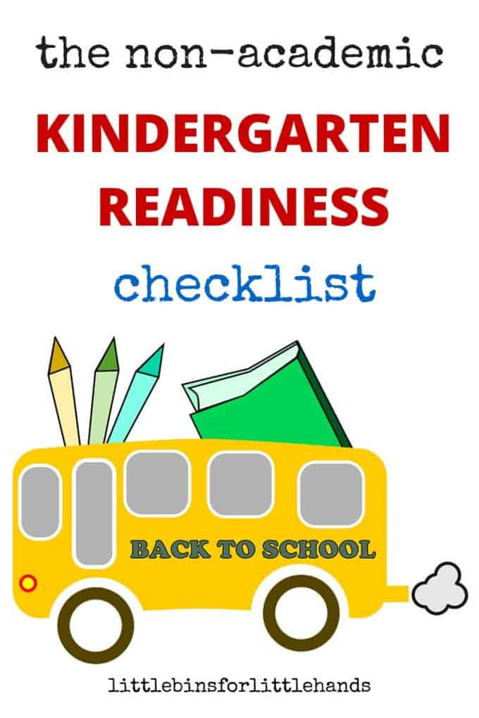 kindergarten readiness checklist with non academic teacher tips