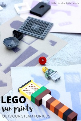 LEGO Construction Paper Sun Prints for Outdoor STEM