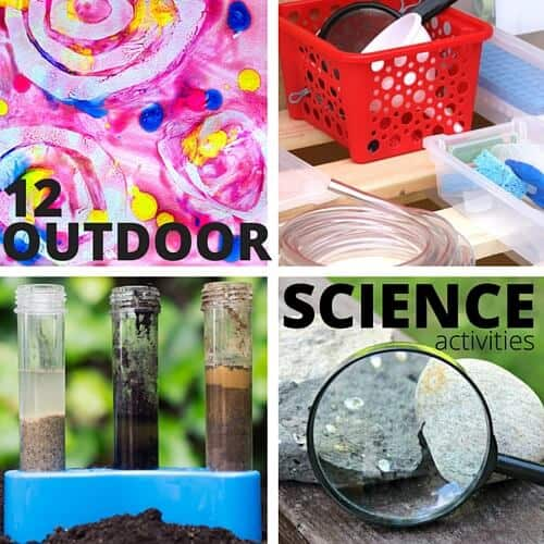 12 outdoor science activities for outdoor STEM series backyard science camp for kids