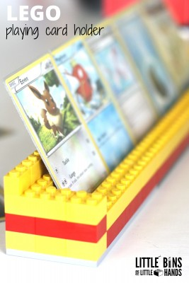 LEGO playing card holder for kids card games
