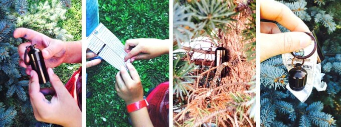 outdoor family activities geocaching with kids