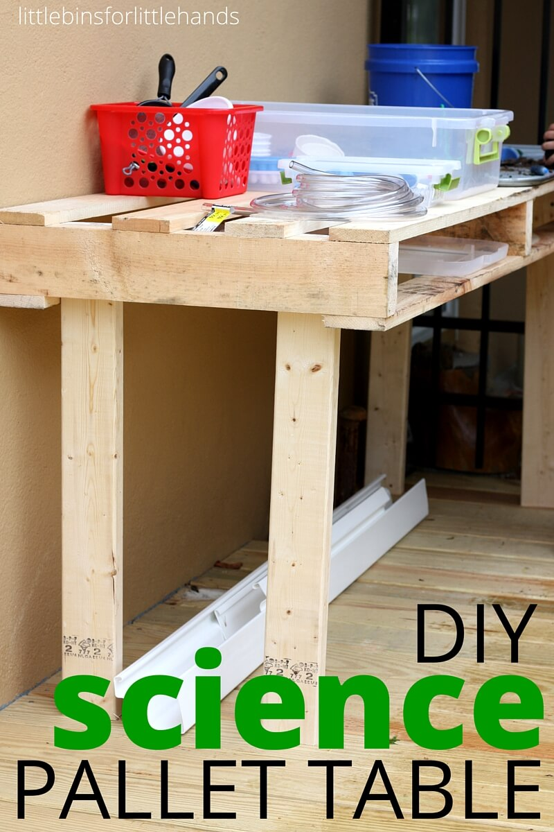 Outdoor Science Table Diy Pallet Project For Kids Stem