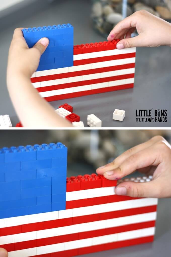 Lego American Flag Building Activity And History