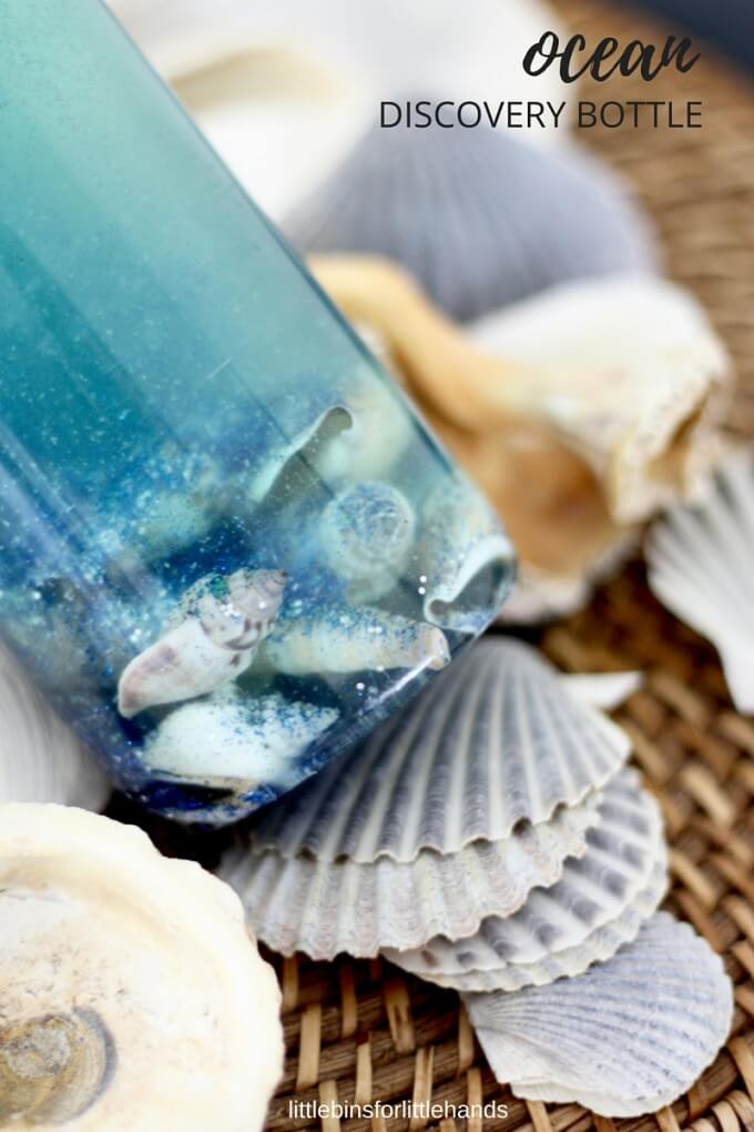 make an ocean sensory bottle