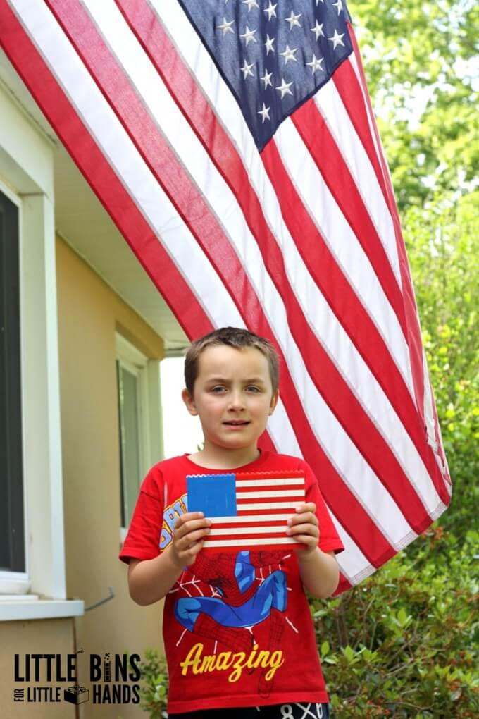 LEGO American Flag Building and Quick History Lesson