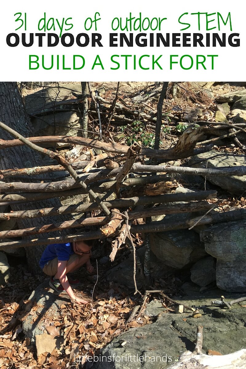 Outdoor nature science activities and stem projects for kids for Waste material activity