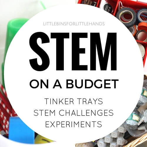 Inexpensive STEM challenges, tinker trays, and experiments