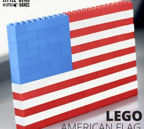 LEGO American Flag Building Activity and Flag History