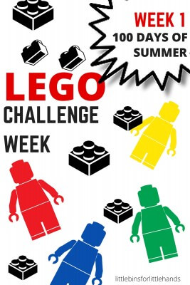 LEGO Building Challenge Week for 100 Days of Summer STEM