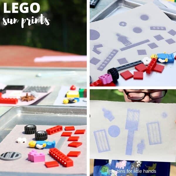 LEGO Solar Sun Prints STEM activity for kids