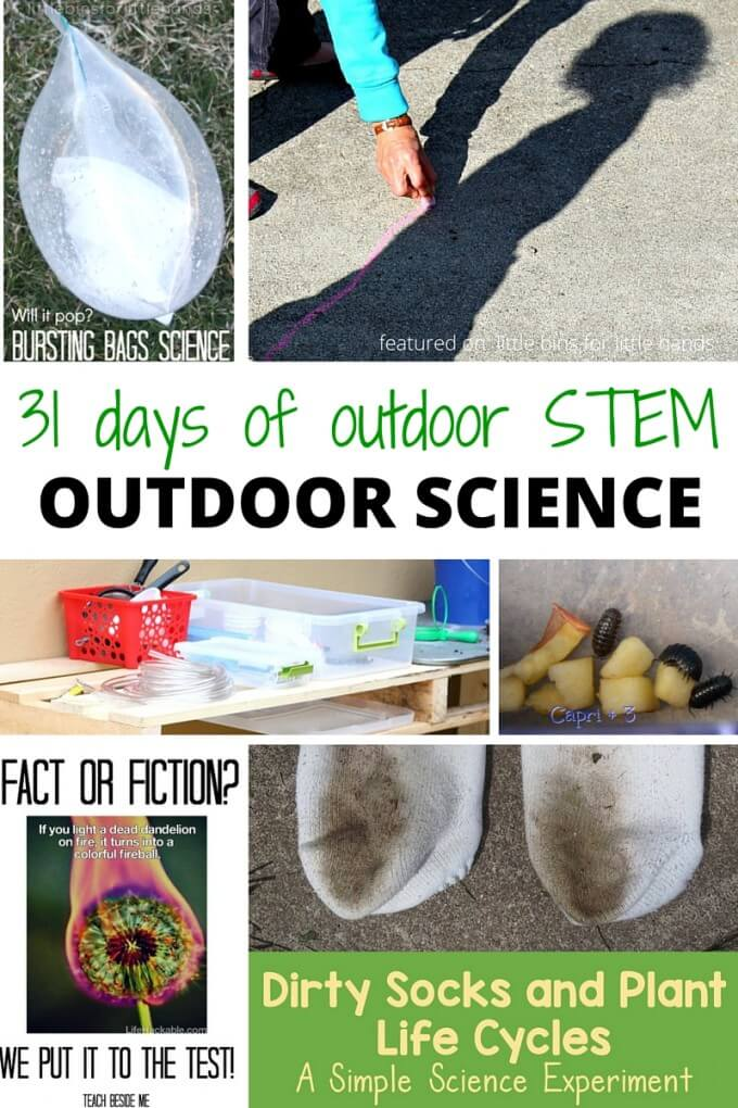 Outdoor STEM and outdoor science activities for summer activities backyard science camp