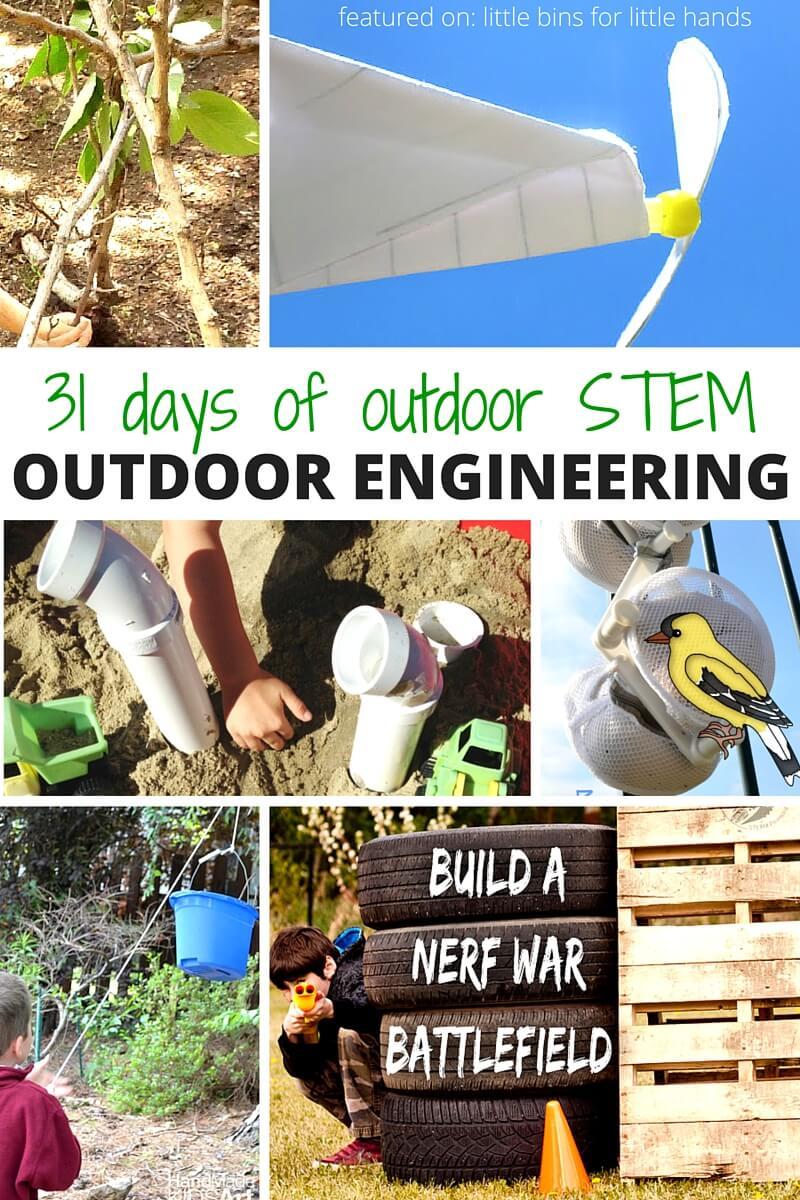 Outdoor Engineering Activities For Kids Stem