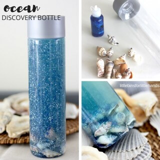 ocean discovery bottle summer activity for kids