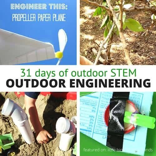 outdoor engineering activities for kids summer STEM outdoors