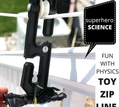 Toy Zip Line Outdoor STEM and Physics Activity