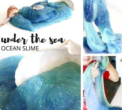 Make Ocean Slime for A Summer Beach Theme