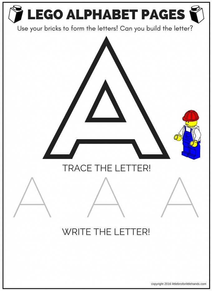 LEGO LETTER PAGES A
