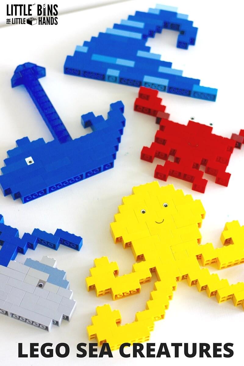 lego ocean animals for an under the sea theme