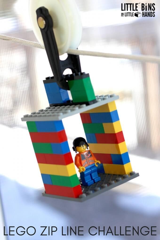 LEGO Zip Line STEM Challenge
