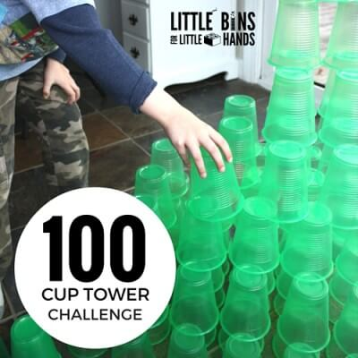 100 Cup Tower Challenge