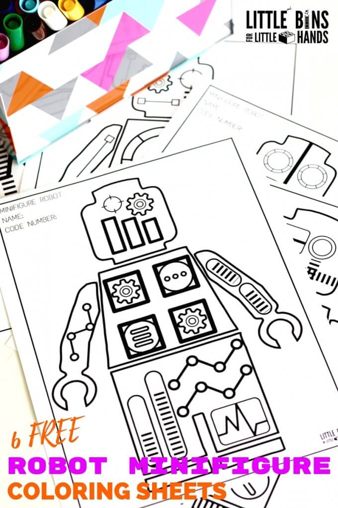 Minifigure Robot Coloring Pages