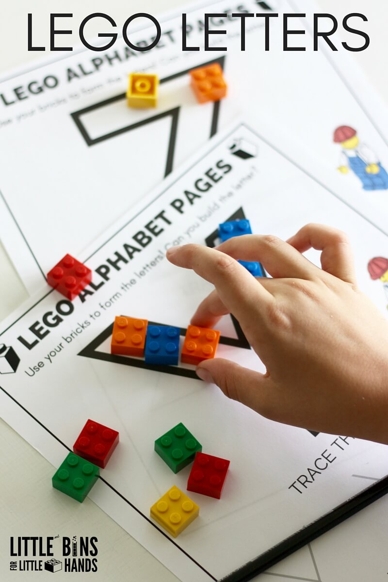 image regarding Lego Letters Printable called Teach Creating With LEGO Letters Small Containers for Tiny