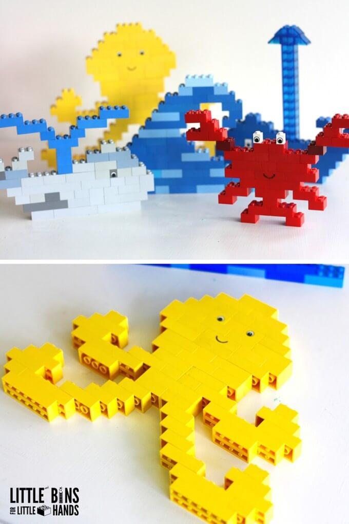LEGO sea creatures to make